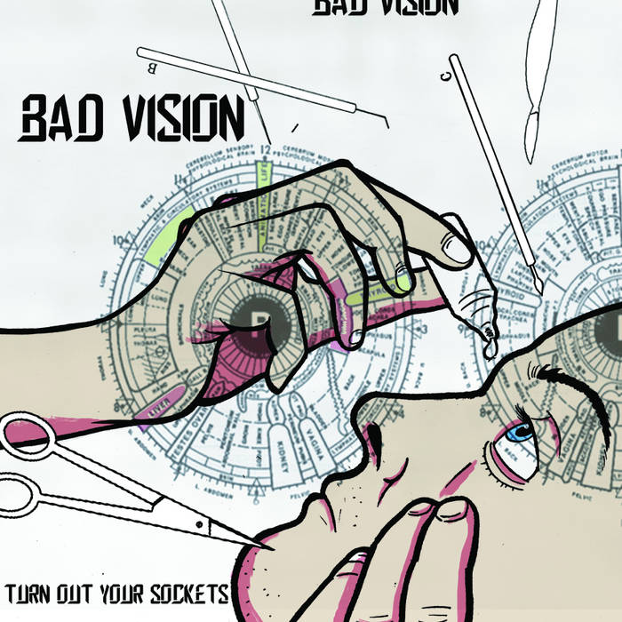 "Bad Vision - Turn Out Your Sockets 12"" lp"