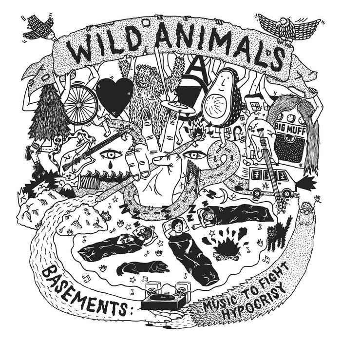 "Wild Animals -  Basements: Music To Fight Hypocrisy 12"" lp"